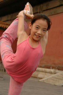 One of many young gymnasts around the world like Keng's daughter